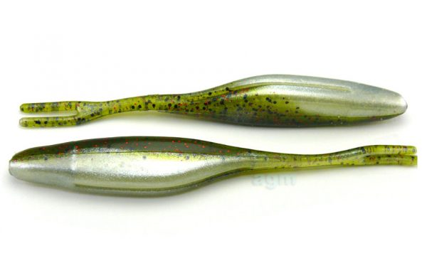 "Big Bite 5"" Jerk Minnow - Watermelon Red Ghost (10pcs)"