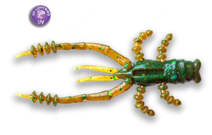 "Crazy Fish 1.8"" Crayfish - 45 Green Motor Oil (8pcs)"