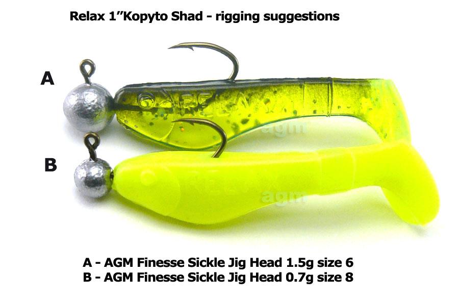 "Relax 1"" Kopyto Shad - Motor Oil (5pcs)"