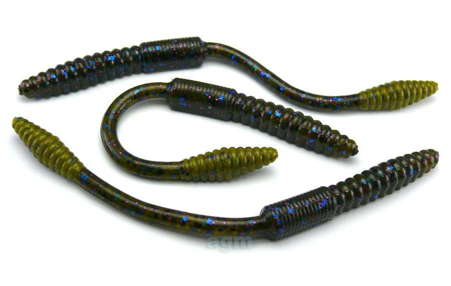 "Big Bite 4.5"" Squirrel Tail Worm - Tilapia (10pcs)"