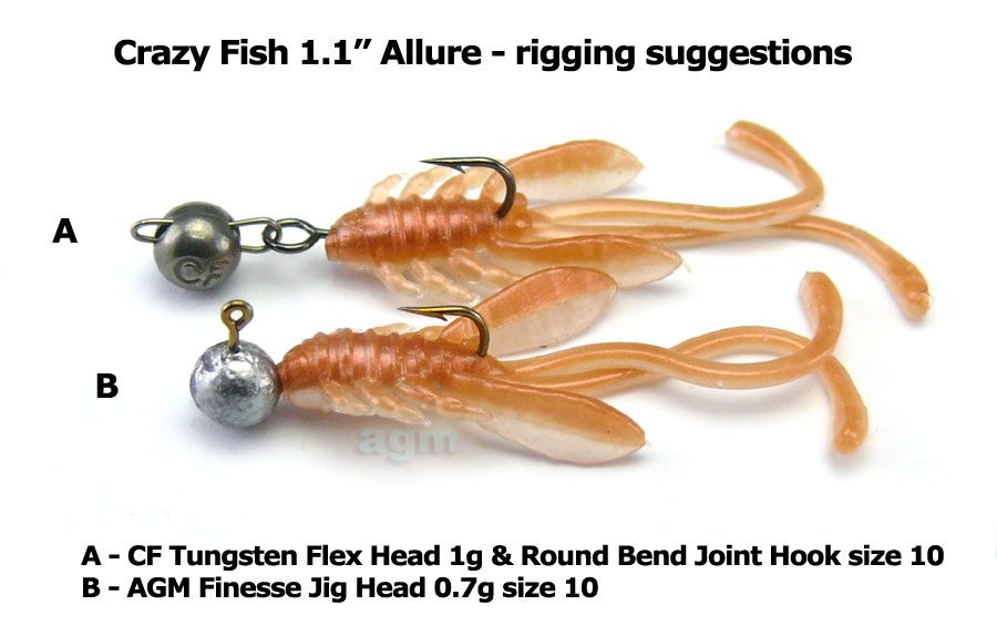 "Crazy Fish 1.1"" Allure - 9 Caramel (10pcs)"