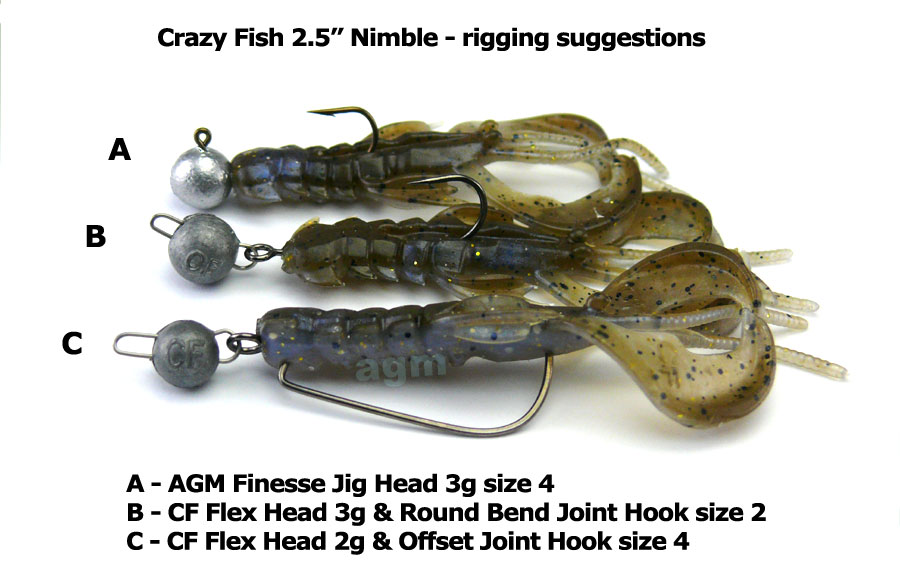"Crazy Fish 2.5"" Nimble - 3D Swamp Pearl (7pcs)"