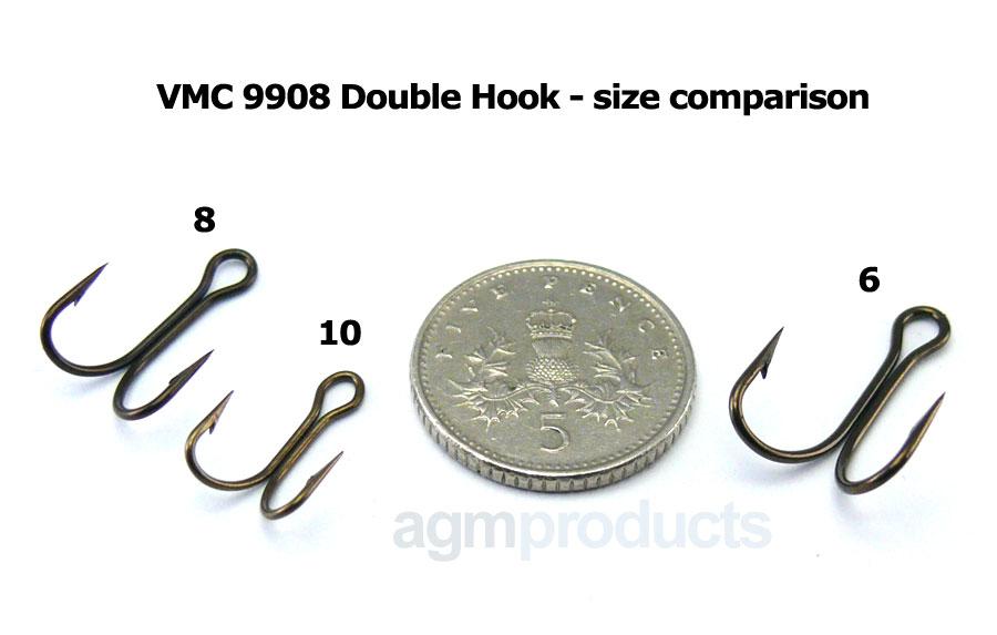 VMC 9908 Double Hook - Size 6 (5pcs)