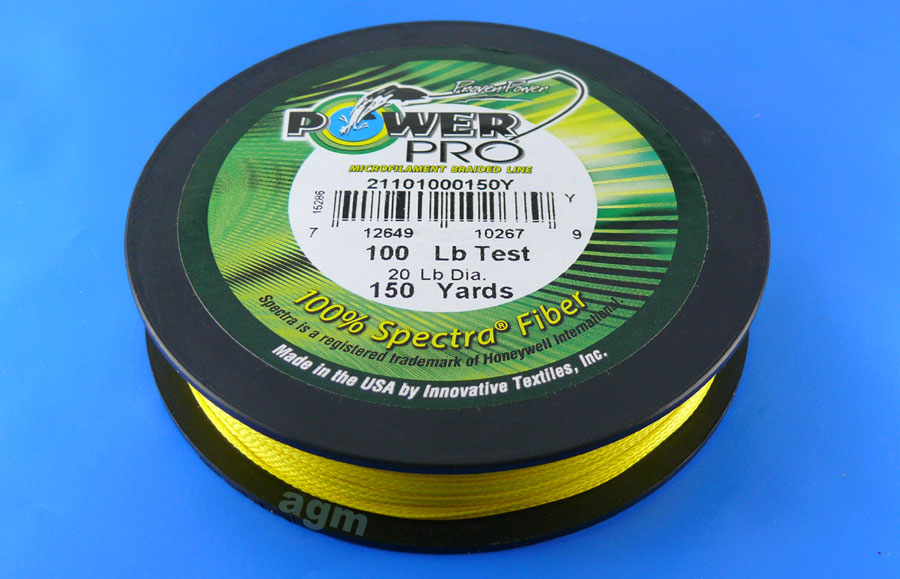 PowerPro braid 100lb (150yds) - Hi-Vis Yellow