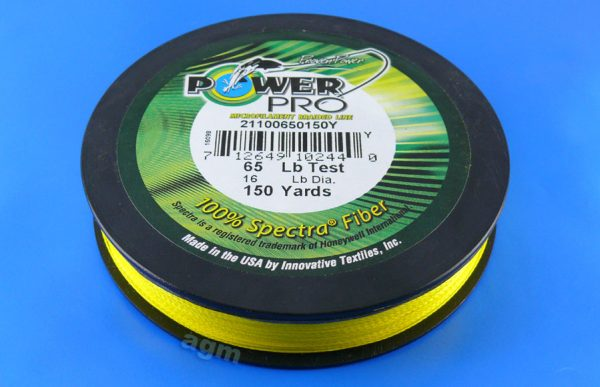 PowerPro braid 65lb (150yds) - Hi-Vis Yellow