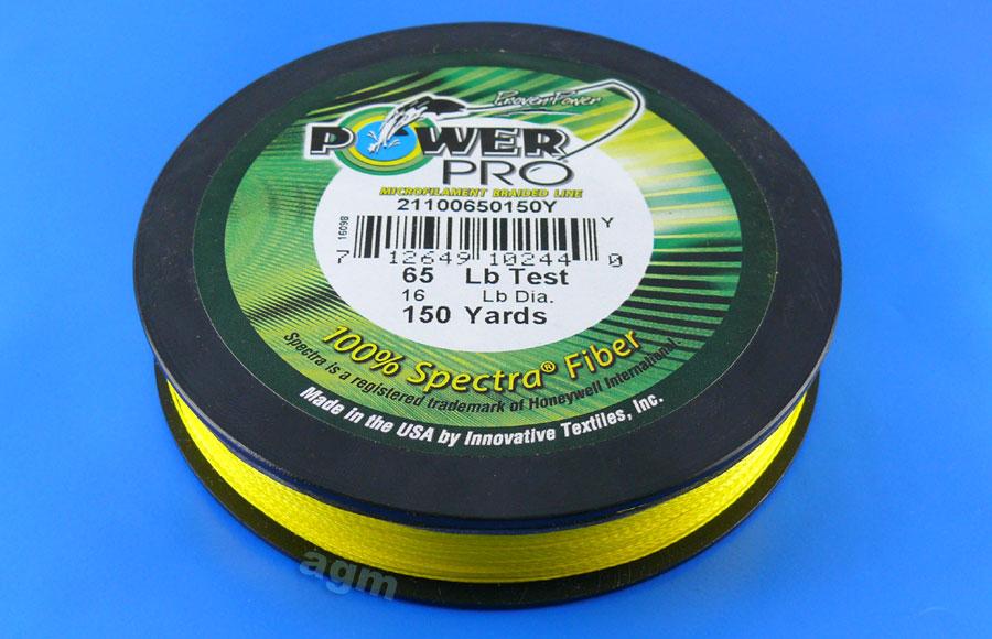 PowerPro braid 65lb (150yds) - Hi-Vis Yellow
