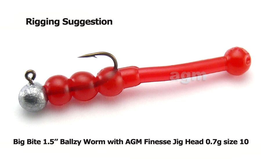 "Big Bite 1.5"" Ballzy Worm - Orange Sparkle (10pcs)"