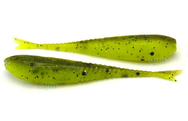 "Crazy Fish 2"" Floating Glider - 4D Swamp Chartreuse (10pcs)"
