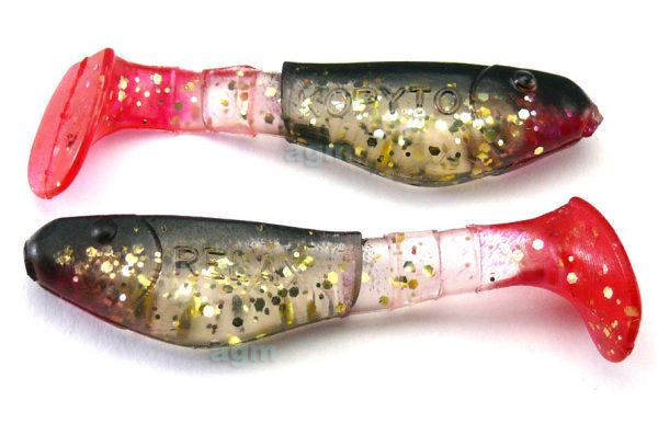 "Relax 2"" Kopyto Shad - Clear/Gold/Black Back (3pcs)"