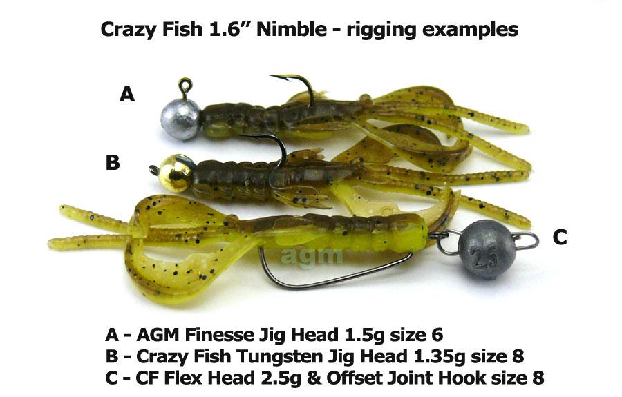"""Crazy Fish 1.6"""" Nimble - 13D Peach (9pcs)"""