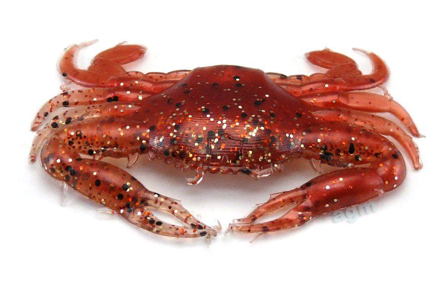 """Rip Tide 2"""" Realistic Crab - New Penny (4pcs)"""