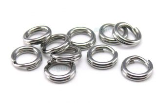 AGM Stainless Steel Split Ring 4mm/35lb (10pcs)