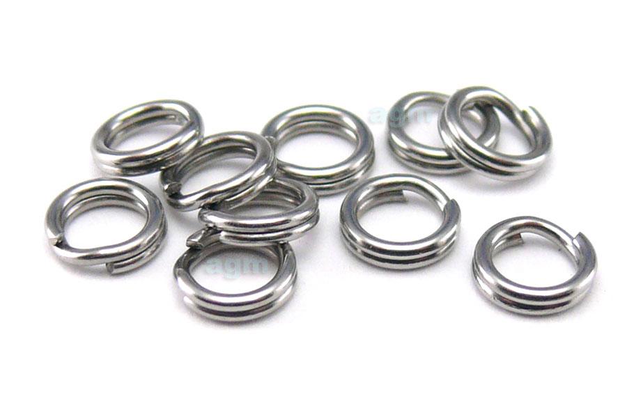 AGM Stainless Steel Split Ring 4mm/35lb (10pcs)