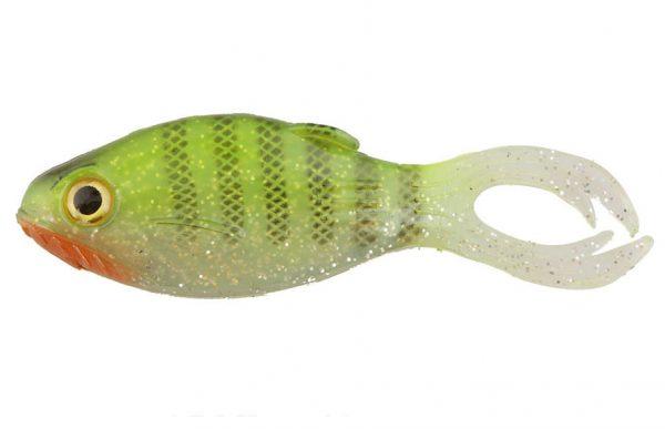"Big Bite 3.5"" Warmouth - Chartreuse Bluegill (4pcs)"