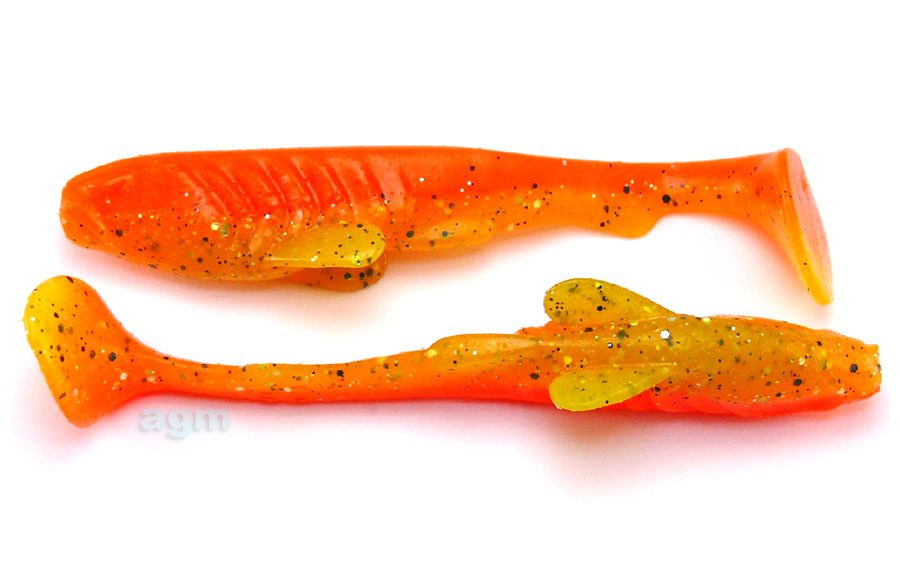 "Crazy Fish 4"" Tough - 15D Fire Orange (6pcs)"