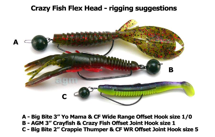 Crazy Fish Flex Head 2g - Watermelon (10pcs)