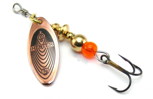 Hester Willow Spinner 3g - Copper/Black