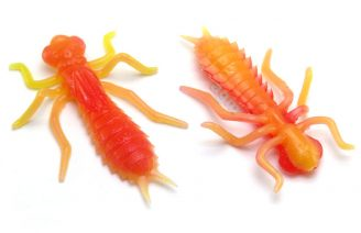 "Crazy Fish 1.6"" Floating Kasari - 13D Peach (6pcs)"