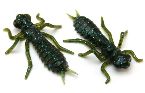 "Crazy Fish 1.6"" Floating Kasari - 42 Green Pumpkin Blue (6pcs)"
