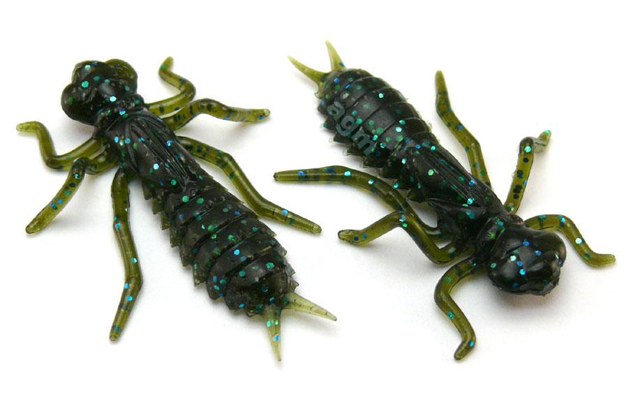 """Crazy Fish 1.6"""" Floating Kasari - 42 Green Pumpkin Blue (6pcs)"""