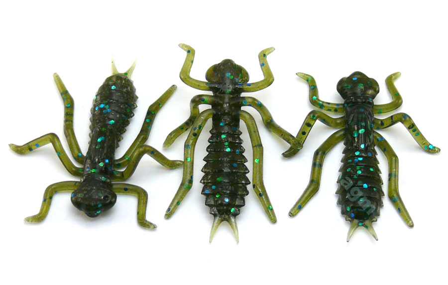 "Crazy Fish 1"" Floating Kasari - 42 Green Pumpkin Blue (8pcs)"