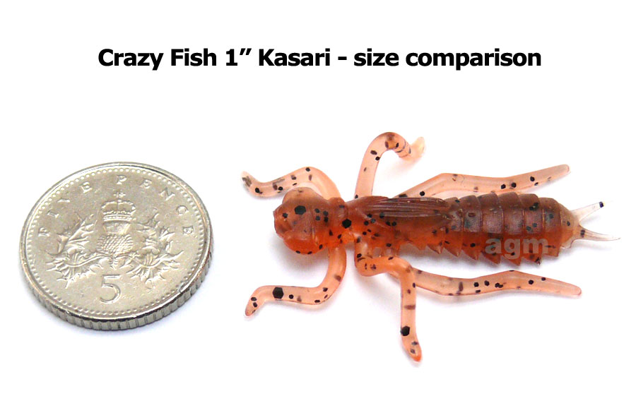 "Crazy Fish 1"" Floating Kasari - 8D Orange Coffee (8pcs)"