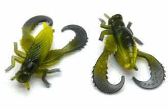 "Big Bite 1"" Cricket - Bumble Bee Swirl (8pcs)"