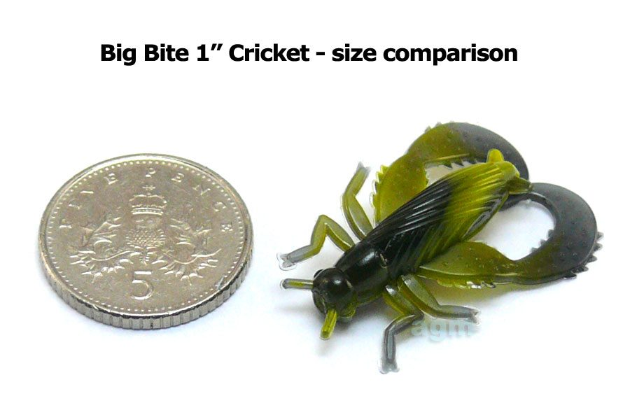 "Big Bite 1"" Cricket - Mossback (8pcs)"