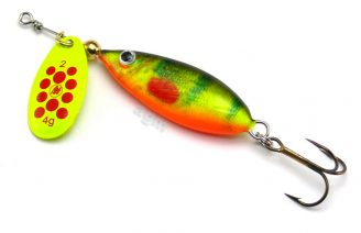Hester Devil Spinner 7g - Hot Perch/Chartreuse