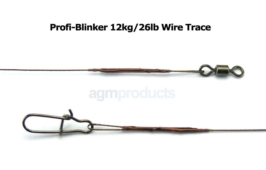 "Profi-Blinker 1x7 Wire Trace 12"" x 12kg/26lb (3pcs)"