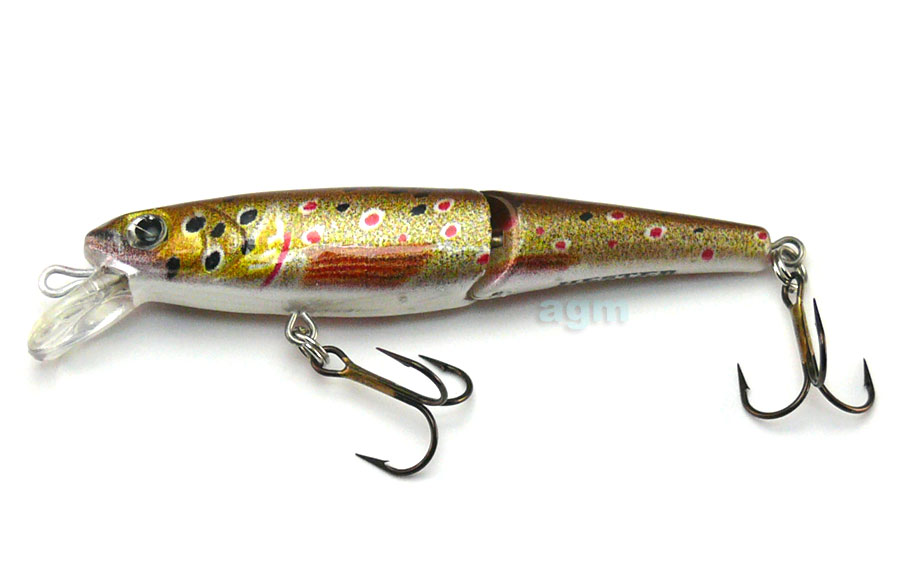 "Hester 2.75"" Jointed Trout Minnow - Brown Trout"