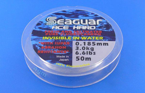 Seaguar Ace Hard Fluorocarbon Leader - 6.6lb/3kg x 50m