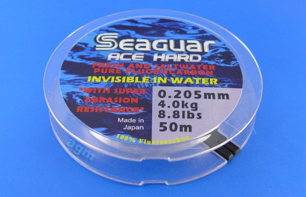 Seaguar Ace Hard Fluorocarbon Leader - 8.8lb/4kg x 50m
