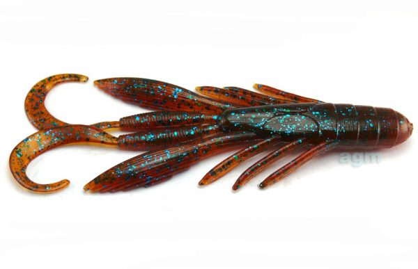 "Culprit 4"" Incredi-Craw - Cinnamon/Blue Flake (6pcs)"