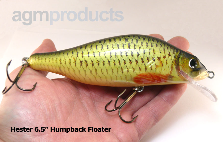 "Hester 6.5"" Humpback Floater - Roach"