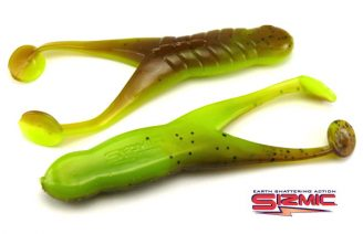 "Kalins 4"" Sizmic Toad - Green Pumpkin/Silk Chartreuse (5pcs)"