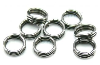 AGM Extra Strong Stainless Split Ring 7.6mm/260lb (8pcs)