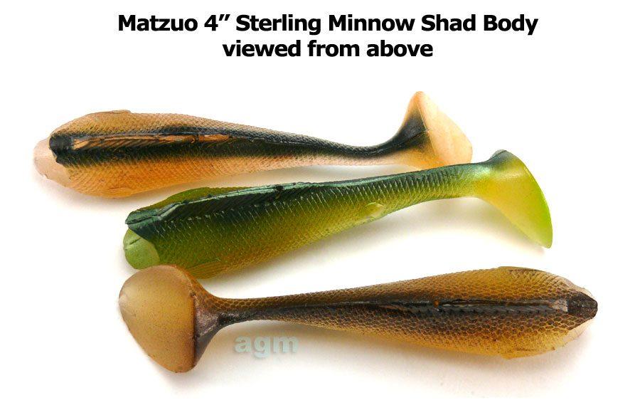 "Matzuo 4"" Sterling Minnow Shad Body - Rosy Shad (3pcs)"