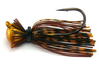 Terminator Football Jig 19g - Pumpkin Brown Black