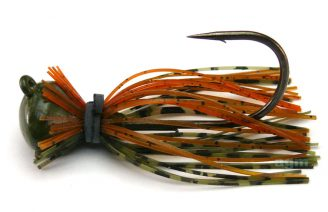 Terminator Football Jig 19g - Green Pumpkin Orange