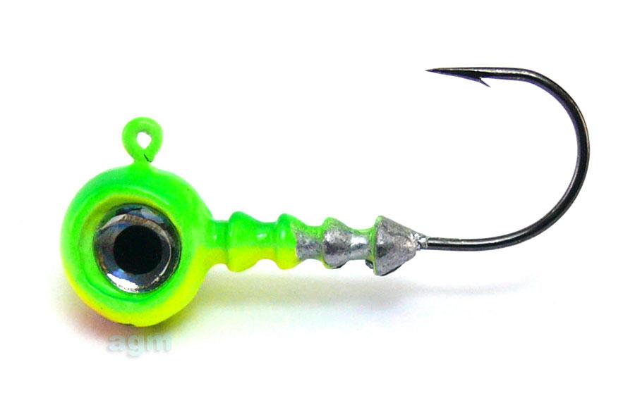 VMC Big Eye Jig Head 3.5g Chartreuse Lime - Size 2 (4pcs)