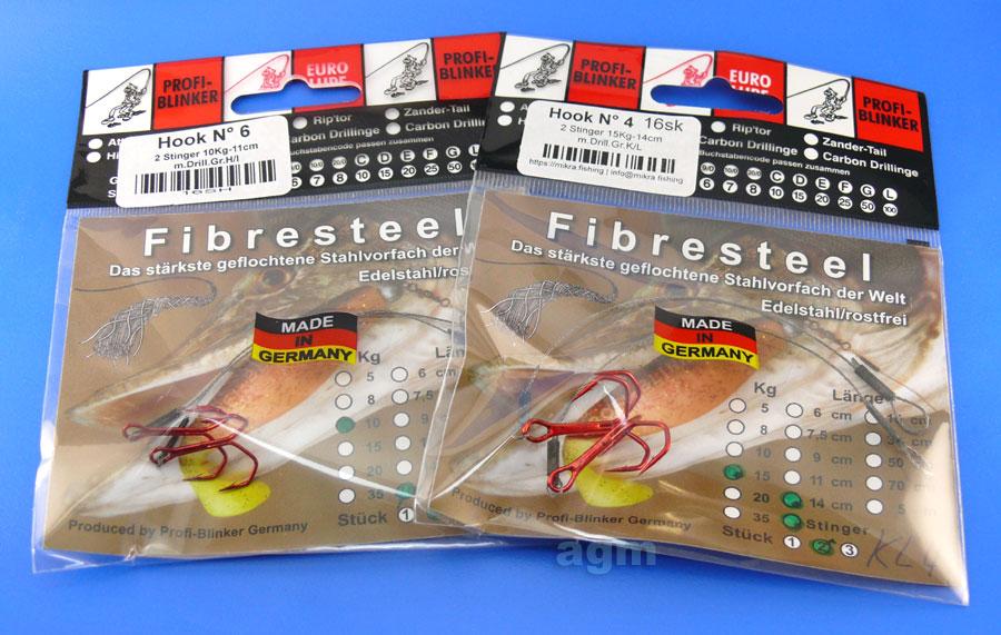 Profi-Blinker Fibresteel Stinger 11cm 10kg/22lb - Size 6 (2pcs)