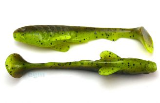 "Crazy Fish 4"" Tough - 4D Swamp Chartreuse (6pcs)"