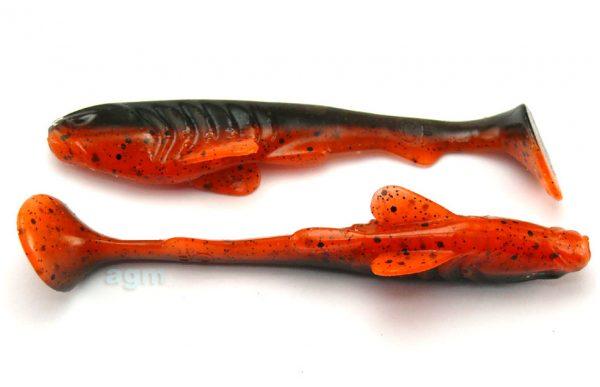 "Crazy Fish 4"" Tough - 8D Orange Coffee (6pcs)"