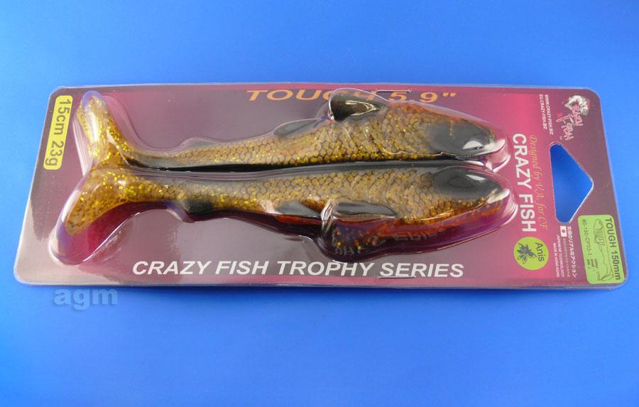 """Crazy Fish Trophy Series 5.9"""" Tough - CP03 Gold Roach (2pcs)"""