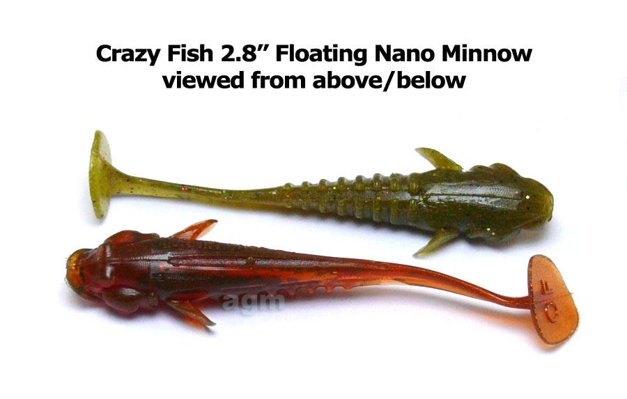 "Crazy Fish 2.8"" Nano Minnow - 1 Olive (5pcs)"