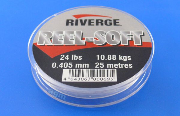 Riverge Reel-Soft 100% Fluorocarbon Line - 24lb/10.9kg x 25m