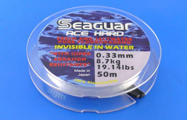 Seaguar Ace Hard Fluorocarbon Leader - 19.1lb/8.7kg x 50m
