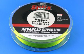 Sufix 832 Braid 5.9kg/13lb (120mtrs) - Neon Lime