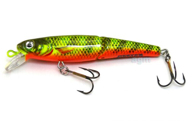 """Hester 2.75"""" Jointed Trout Minnow - Fire Minnow"""